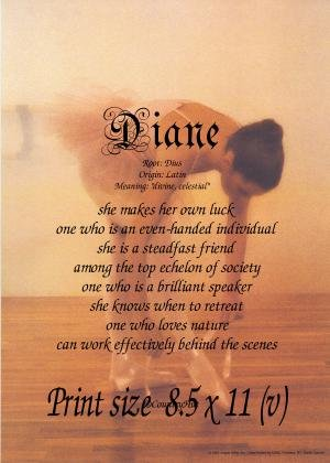 BALLET #1 - PERSONALIZED 1 Name Meaning Print - no US s/h fee