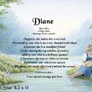 SUMMERTIME GIRL & Kitten - PERSONALIZED 1 Name Meaning Print  - no US s/h fee