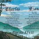 BLUE RIDGE Mountains - PERSONALIZED 1 or 2 Name Meaning Print  - no US s/h fee