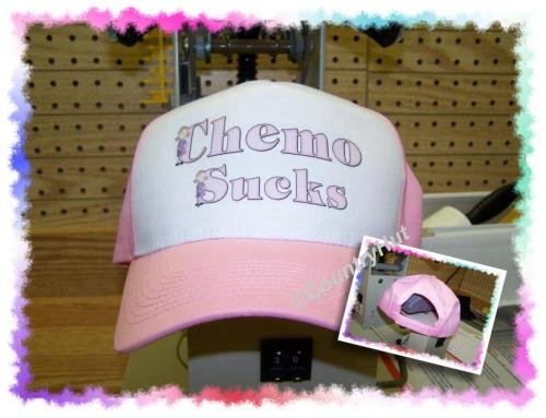 Ball Cap, Breast Cancer Awareness. CHEMO SUCKS
