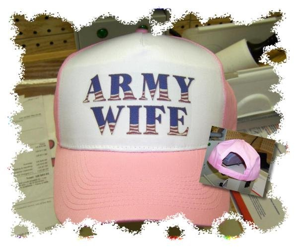 Ball Cap, ARMY WIFE, military, army