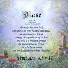 BUTTERFLY FAIRY - PERSONALIZED 1 Name Meaning Print  - no US s/h fee