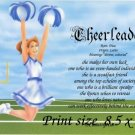 CHEERLEADERS - PERSONALIZED 1 Name Meaning Print  - no US s/h fee