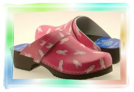 PINK RIBBON Clogs, BREAST CANCER AWARENESS (US size 5)