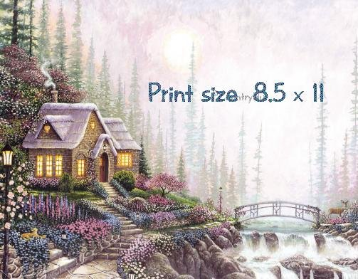 Country COTTAGE - PERSONALIZED 1 Name Meaning Print  - no US s/h fee