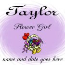 T-shirt, FLOWER GIRL,  wedding party. personalize, Bride, Groom, Wedding Date