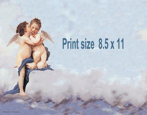 ANGEL KISS #2 - PERSONALIZED 1 Name Meaning Print  - no US s/h fee