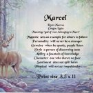 DEER CROSSING  - PERSONALIZED 1 Name Meaning Print  - no US s/h fee