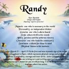 DOLPHINS #2- PERSONALIZED 1 Name Meaning Print  - no US s/h fee