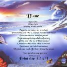 DOLPHIN FANTASY - PERSONALIZED 1 Name Meaning Print  - no US s/h fee