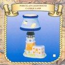 Porcelain LIGHTHOUSE Candle Lamp, Tea light Holder NIB