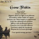 FISHING, Loyal Friend - PERSONALIZED 1 Name Meaning Print  - no US s/h fee
