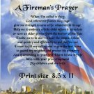 FIREMAN'S PRAYER, Forever in our Hearts - PERSONALIZED Print  - no US s/h fee