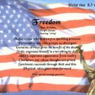 USA FLAG - PERSONALIZED 1 Name Meaning Print  - no US s/h fee