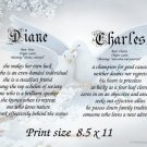Wedding LOVE DOVES - PERSONALIZED 1 or 2 Name Meaning Print  - no US s/h fee