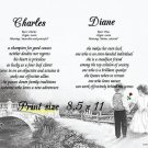 FIRST LOVE - PERSONALIZED 1 or 2 Name Meaning Print  - no US s/h fee