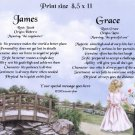 FIRST LOVE #2 - PERSONALIZED 1 or 2 Name Meaning Print  - no US s/h fee