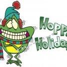 T-shirt - HOPPY HOLIDAYS, winter Frog   ~ (Adult 2xLarge to Adult 6xLarge)
