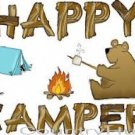 HAPPY CAMPER, Bear, raccoon, tent ~ (Adult 2xLarge to Adult 6xLarge) ~ T-shirt