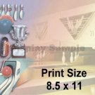 BOWLING - PERSONALIZED 1  Name Meaning Print  - no US s/h fee