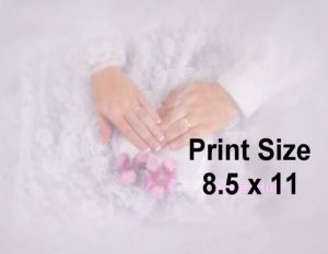 WEDDING HANDS III - PERSONALIZED 2  Name Meaning Print  - no US s/h fee