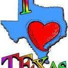 I (heart) LOVE TEXAS ~ (Adult 2xLarge to Adult 6xLarge) ~ T-shirt