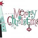 MERRY CHRISTMAS- Retro style ~ (yth xSm to Adult xLarge) - T-shirt