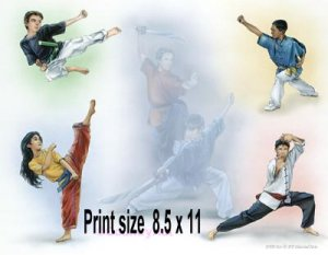 KARATE, MARTIAL ARTS  #2 - PERSONALIZED 1 Name Meaning Print  - no US s/h fee