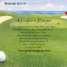 GOLFERS PRAYER - Print  - no US s/h fee