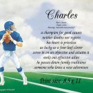 FOOTBALL player - PERSONALIZED 1 Name Meaning Print  - #3