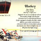 HOCKEY - PERSONALIZED 1 Name Meaning Print ~ - no US s/h fee