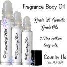 RAIN, Body Fragrance Oils, Perfume oils, 1/3 oz roll on bottle