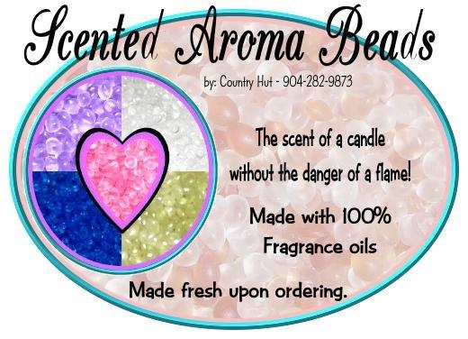 Baby Powder:  ~ Scented AROMA BEADS + Fragrance oil, air freshener kit ~ (set of 2)