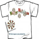T-shirt - HAPPY HOLIDAYS, Autism Snowflakes, - (Adult Sm, Med, Lg)