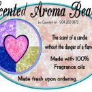 Peaches & Cream ~ Scented AROMA BEADS + Fragrance oil, air freshener kit ~ (set of 2)