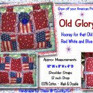 OLD GLORY - Tote rag Handbag Purse Quilted - American Flag (1)