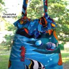 Tropical Fish - Gift Bag - Draw string handbag - multi purpose handbag, cosmetic bag