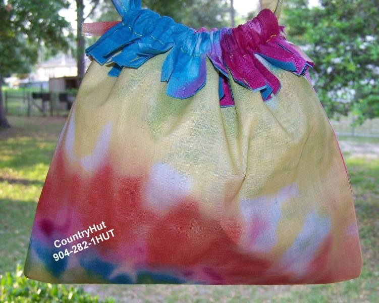 TYE DYE  - Gift Bag - Draw string handbag - multi purpose handbag, cosmetic bag