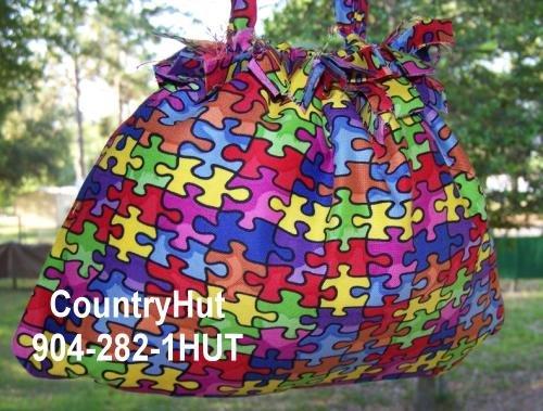 AUTISM - Gift Bag - Draw string handbag - multi purpose handbag, cosmetic bag