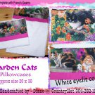 Garden Cats - Kittens 1 set of 2 Pillowcases - standard size