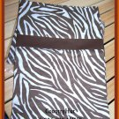 ZEBRA, Med brown - animal skin,  1 set of 2 Pillowcases - standard size