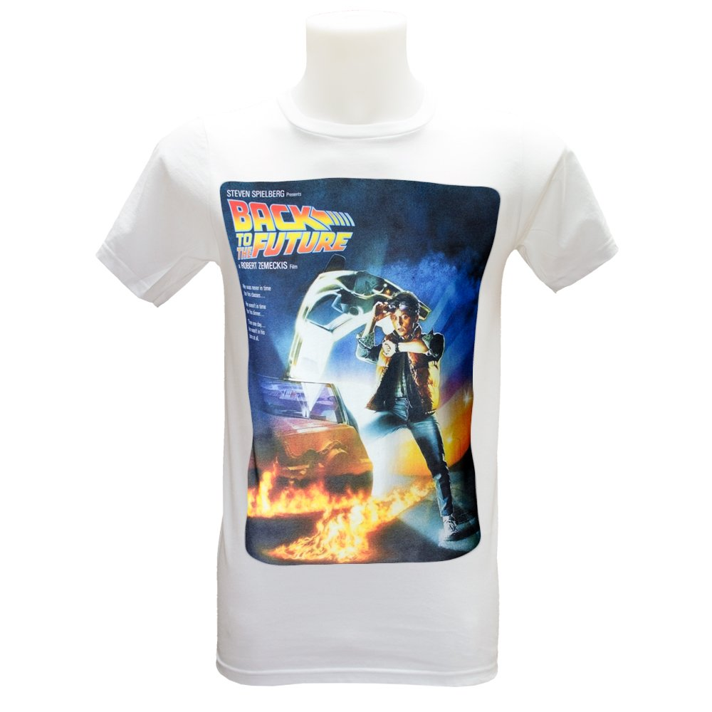 Back To The Future Movie Poster T Shirt (S-3XL) Retro Vintage 80's Classic