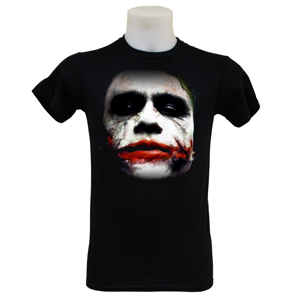 Joker Face T Shirt (S-3XL) Heath Ledger Dark Knight Rises Batman
