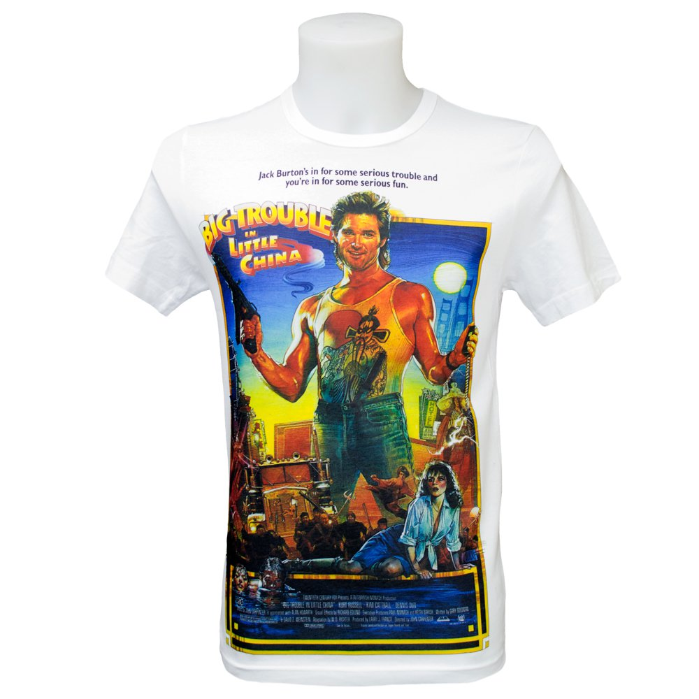 Big Trouble In Little China T Shirt (S-3XL) John Carpenter Retro Classic