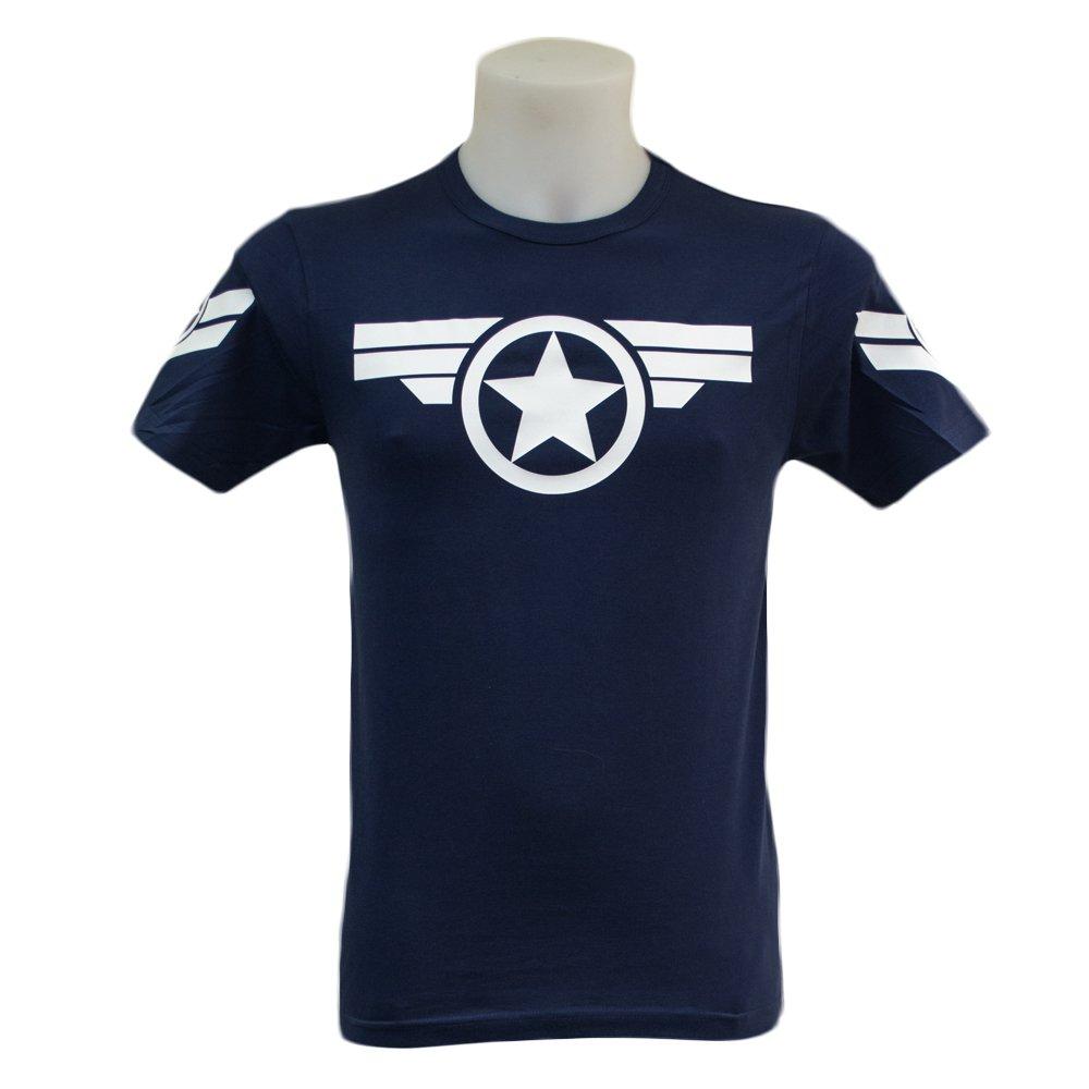 Captain America T Shirt (S-2XL) Marvel Steve Rogers Avengers Winter Soldier