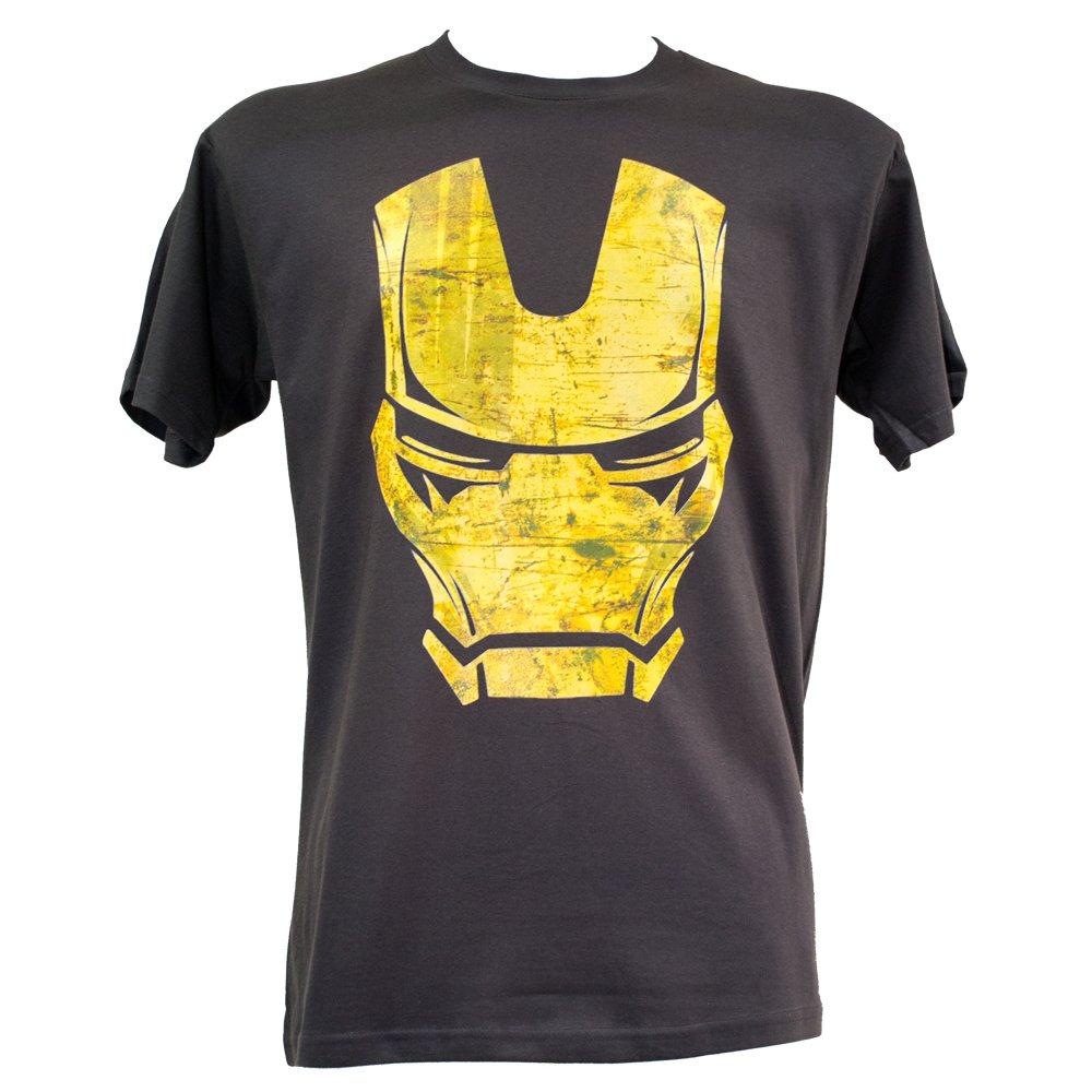 Iron Man Distressed T Shirt Print (S-2XL) Marvel Avengers
