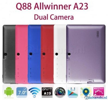 7 inch Allwinner A23 Android Tablet PC Q88 - Black (#1000000000)