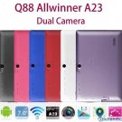 7 inch Allwinner A23 Android Tablet PC Q88 - Pink (#1000000002)