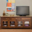 "Large Amish Plasma TV Stand Solid Wood 72"" TV LCD Console Media Cabinet Storage"
