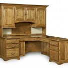 Amish Corner Computer Desk Hutch Home Office Solid Wood Furniture Traditional
